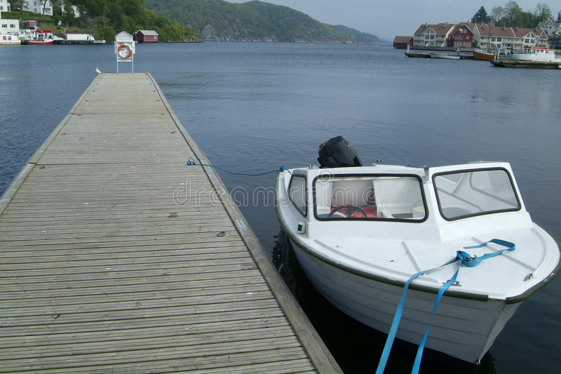 Barche al porto fotografie stock libere da diritti