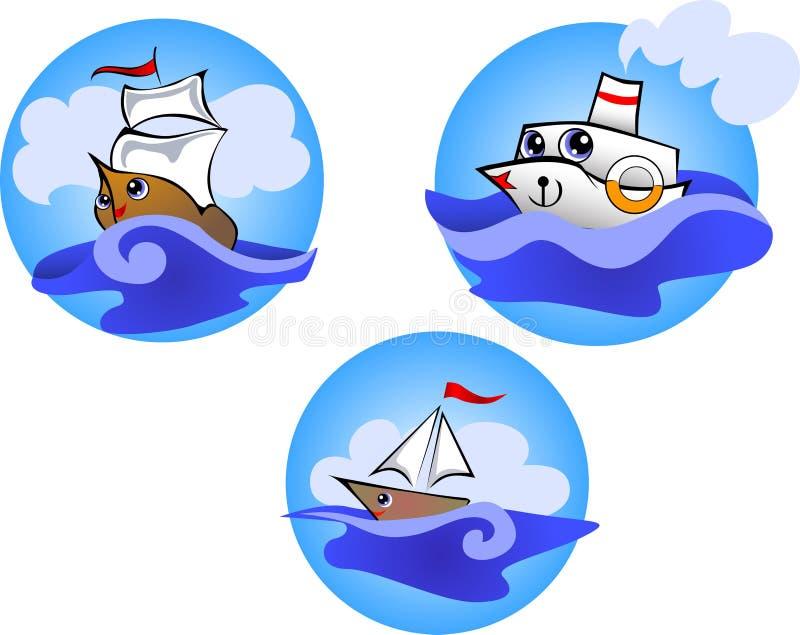 Barche allegre royalty illustrazione gratis