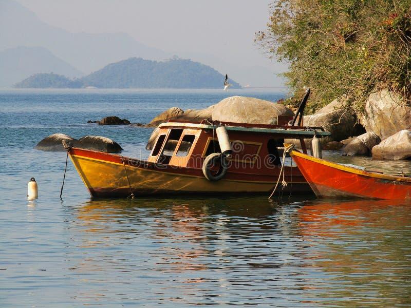 Barche ancorate 5 immagine stock
