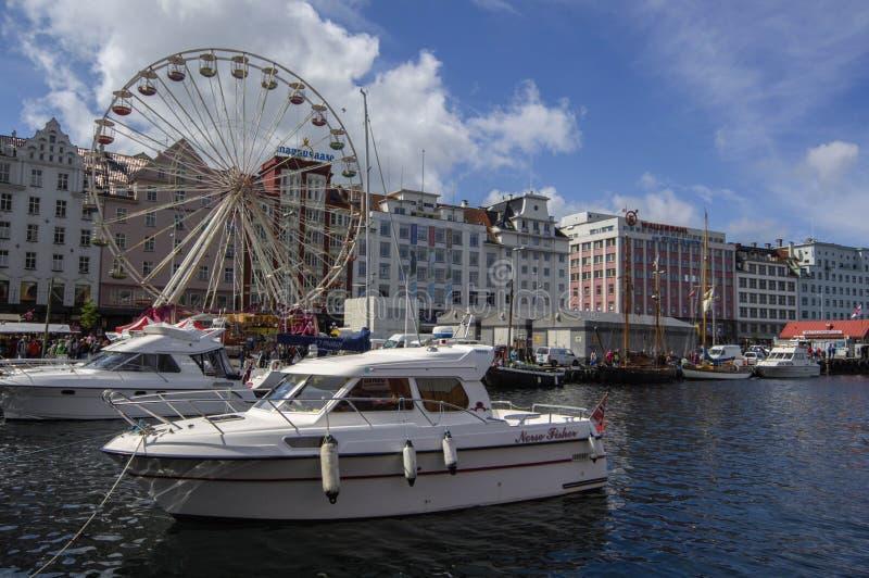 Barche a Bergen immagini stock