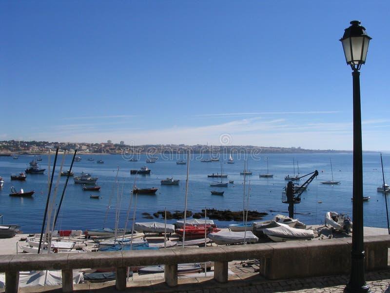 Barche - Cais Cais - Portogallo fotografia stock