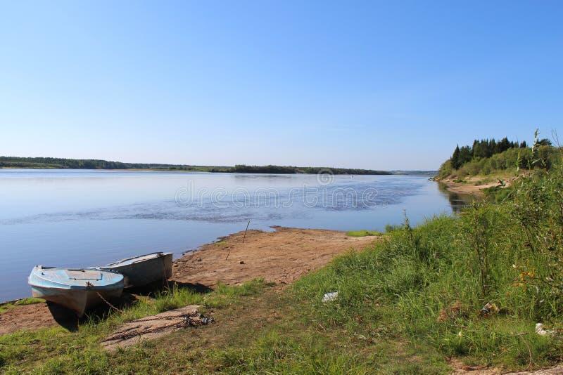 Barche dal fiume fotografia stock