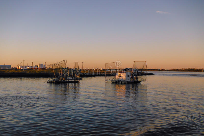 Barche del gamberetto della Luisiana immagini stock
