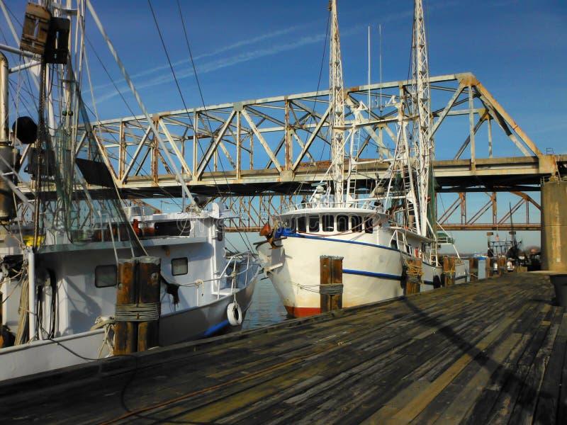 Barche del gamberetto della Luisiana immagine stock
