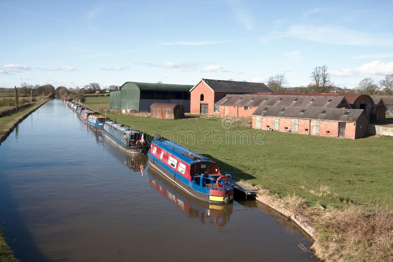 Barche della Camera del canale fotografie stock libere da diritti