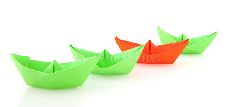 Barche di carta immagine stock