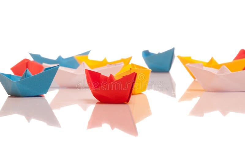 Barche di carta fotografia stock