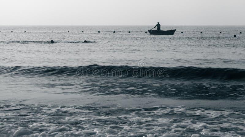 Barche di Clamming fotografie stock