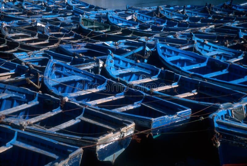 Barche di Essaouira, Marocco immagini stock libere da diritti