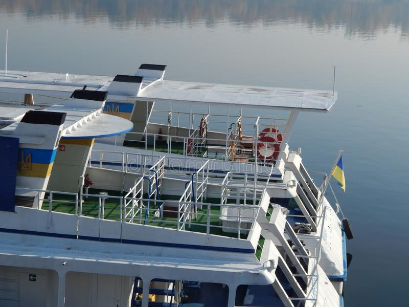 Barche di fiume nei dettagli e negli elementi fotografia stock libera da diritti