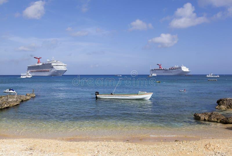 Barche di Grand Cayman fotografia stock libera da diritti