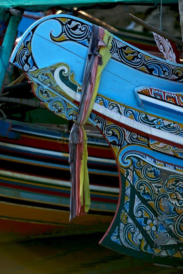 Barche di legno variopinte fotografia stock