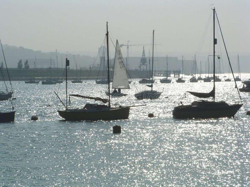 Barche di navigazione immagine stock