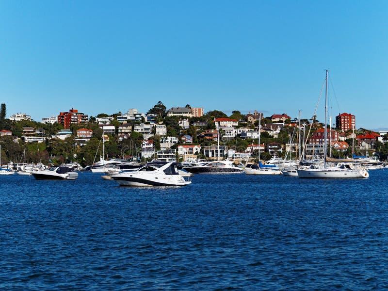 Barche di svago, Rose Bay, Sydney fotografia stock