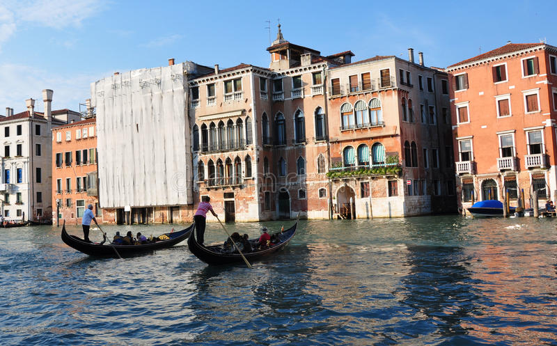 Barche Gondole Venezia imagen de archivo