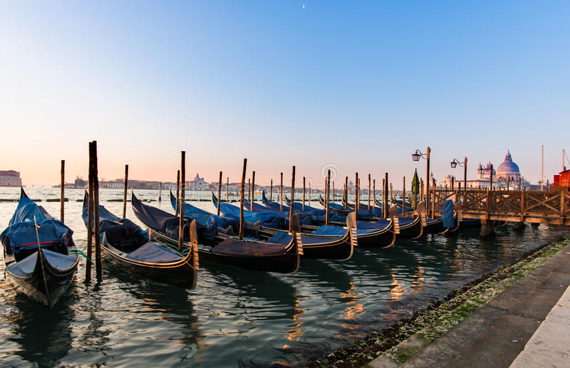 Barche Gondole Venezia royalty free stock photography