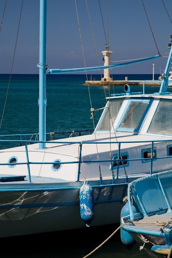 Barche greche fotografia stock libera da diritti