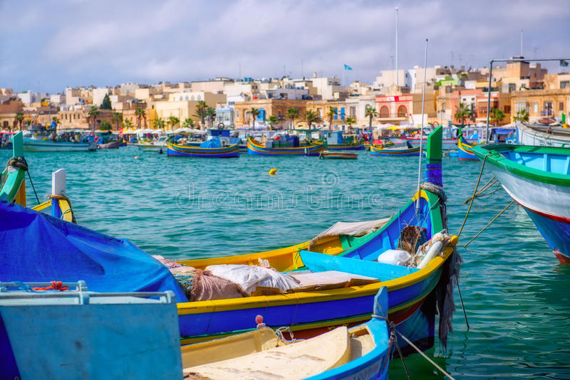 Barche maltesi fotografia stock
