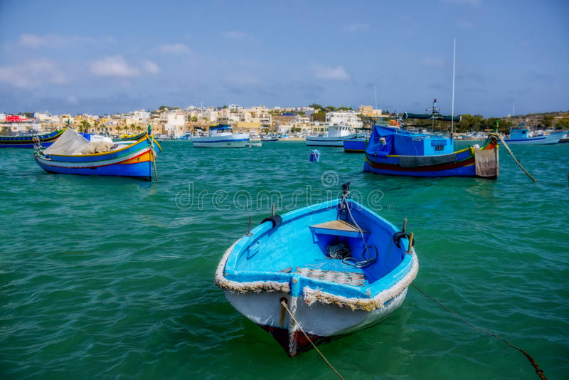 Barche maltesi fotografie stock