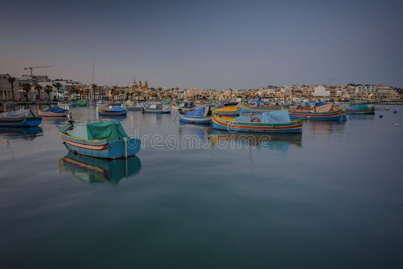 Barche maltesi tradizionali immagine stock