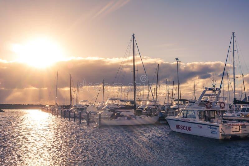 Barche messe in bacino immagine stock libera da diritti