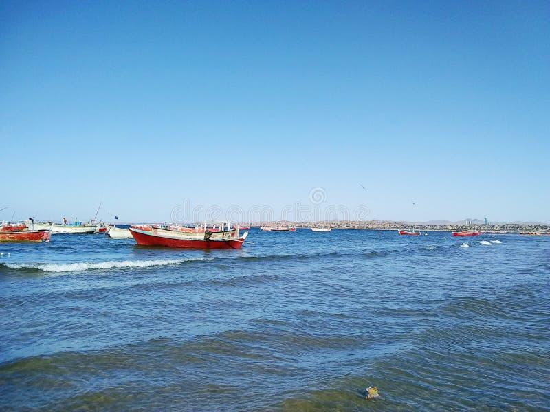 Barche nel Belucistan Pakistan fotografia stock libera da diritti