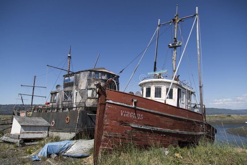 Barche in Omero, Alaska immagine stock libera da diritti