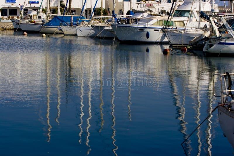 Barche in porto fotografia stock libera da diritti