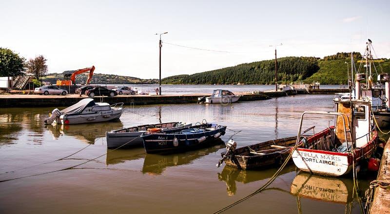 Barche in porto immagine stock