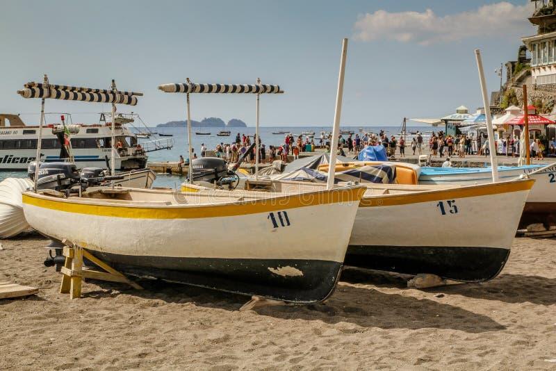Barche in Positano fotografia stock libera da diritti