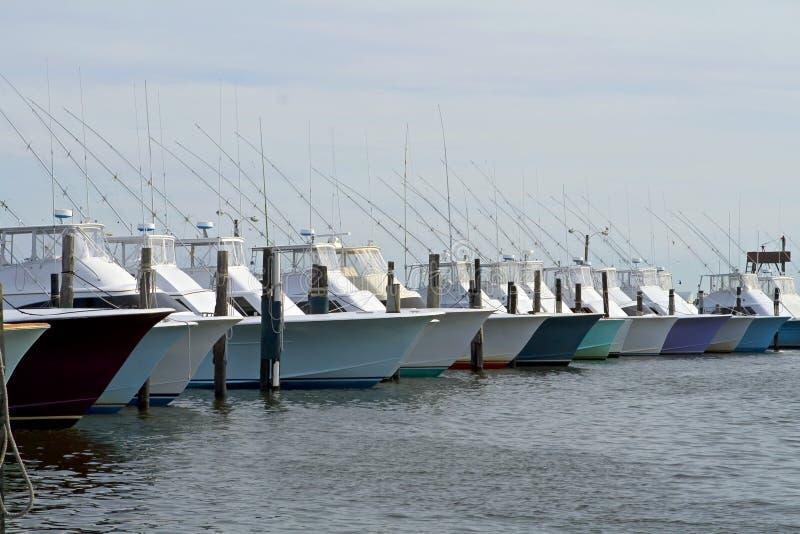 Barche profonde di pesca marittima immagine stock libera da diritti