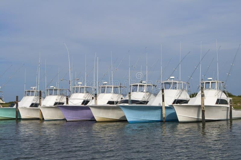 Barche profonde di pesca marittima fotografia stock libera da diritti