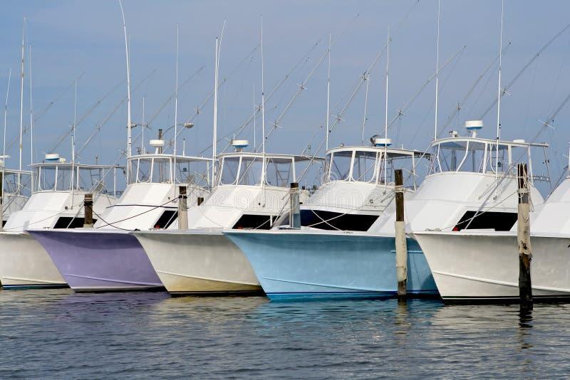 Barche profonde di pesca marittima fotografie stock