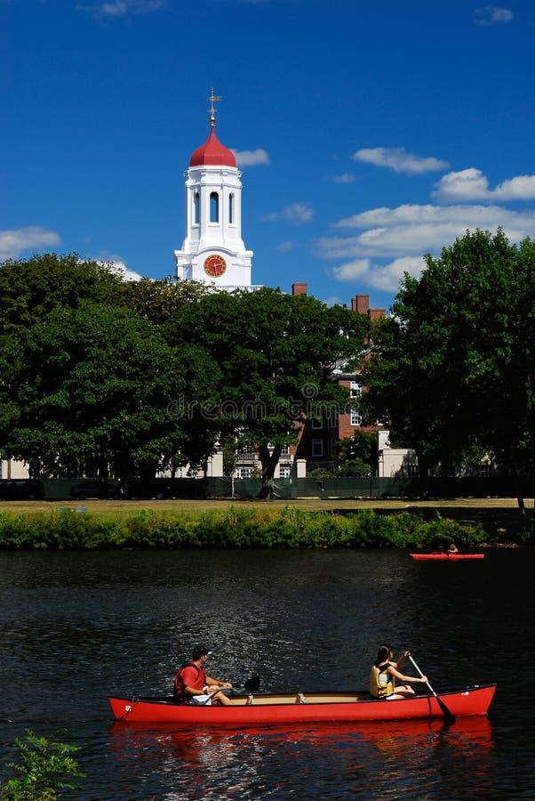 Barche rosse da Harvard fotografie stock