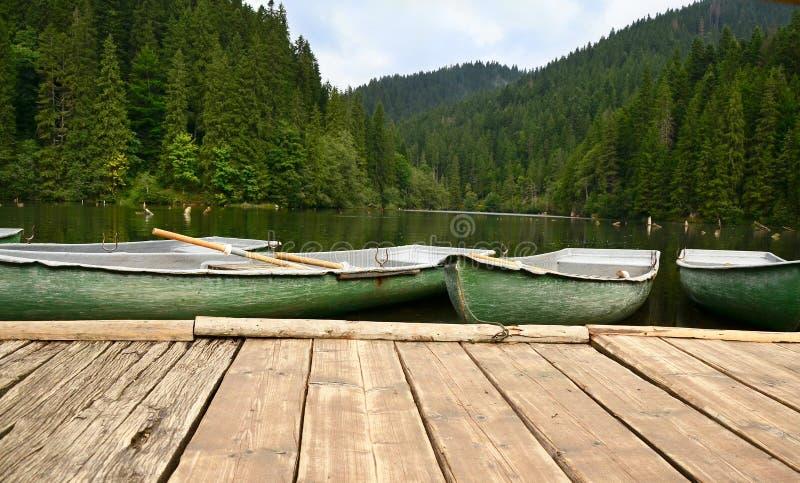 Barche Sul Lago Immagini Stock Libere da Diritti