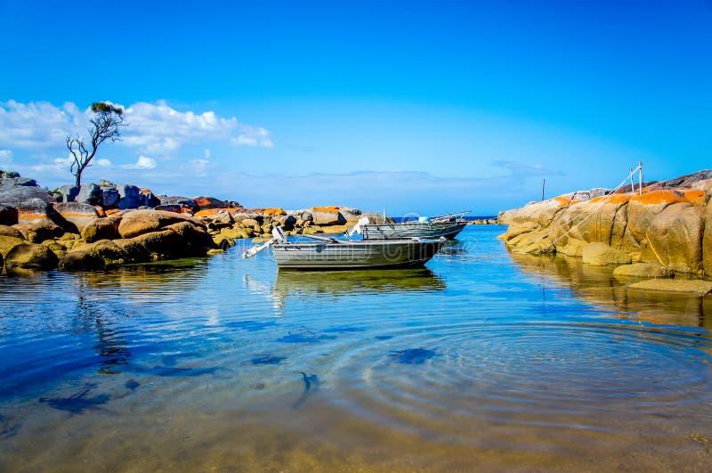 Barche sull'acqua immagini stock libere da diritti