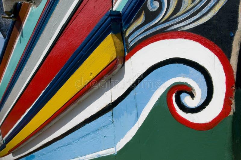 Barche tradizionali variopinte del pescatore. immagine stock libera da diritti