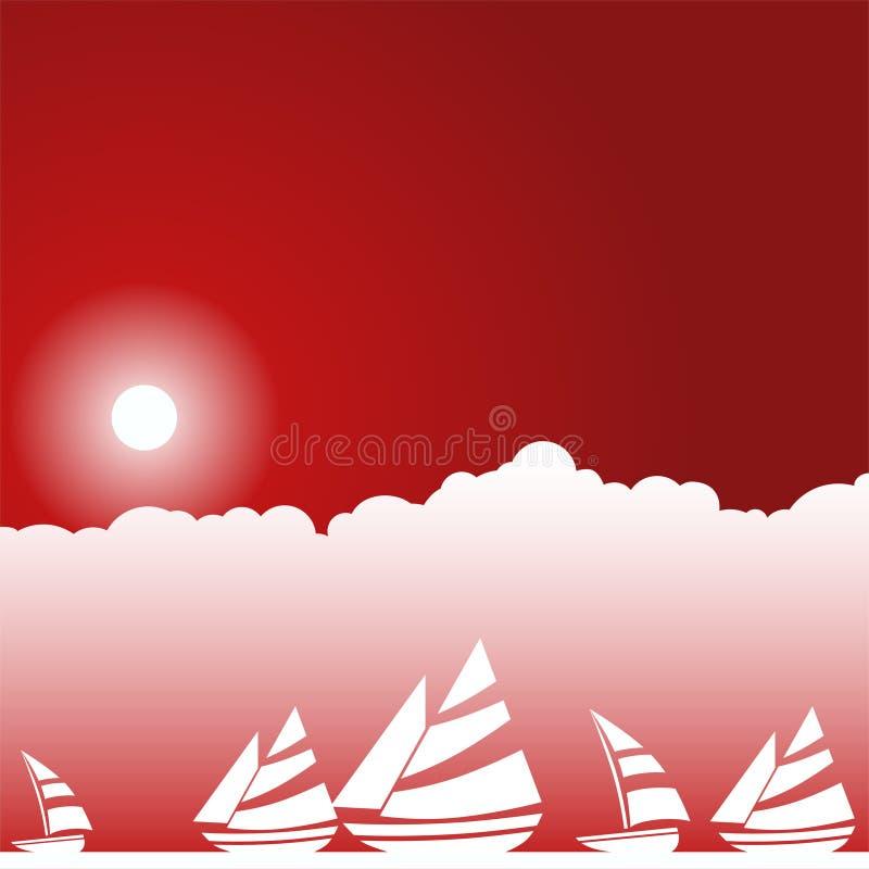 Barche a vela illustrazione vettoriale