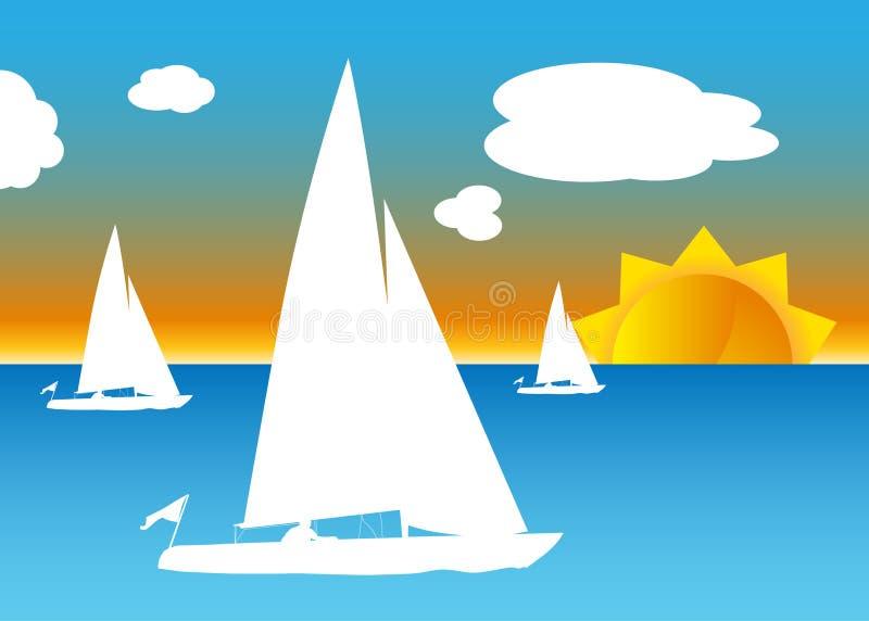 Barche a vela royalty illustrazione gratis