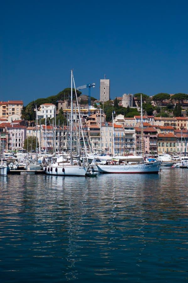 Barche a vela a Cannes immagine stock libera da diritti
