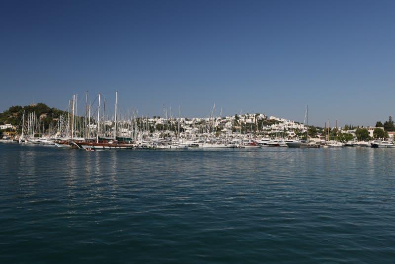 Barche a vela nel porticciolo di Bodrum immagine stock