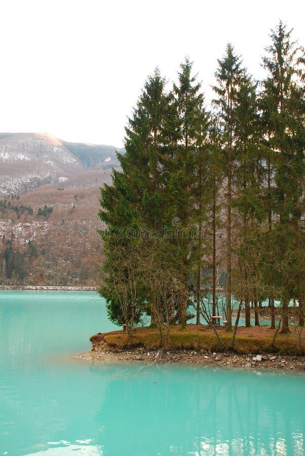 barcis意大利湖 库存照片
