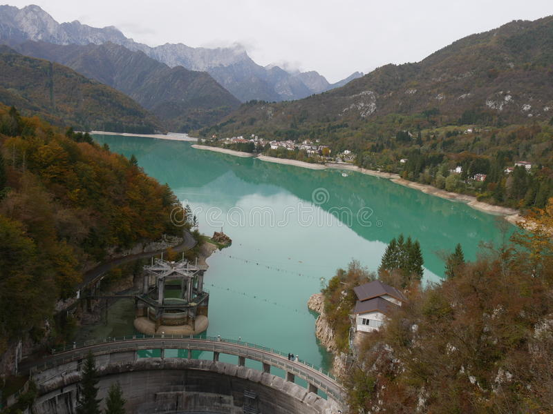 Barcis湖 免版税库存照片