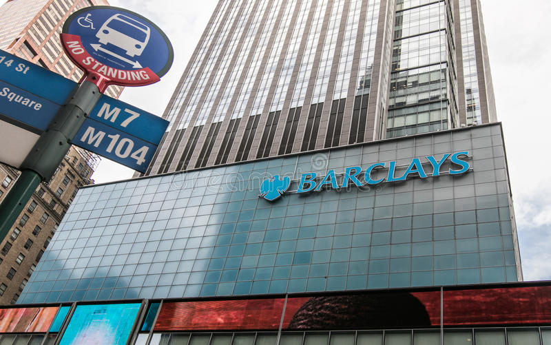 Barclays-Büro in Manhattan lizenzfreies stockbild