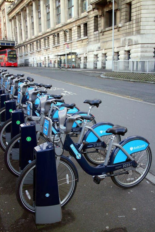 Barclays Bank-Fahrräder stockfotografie