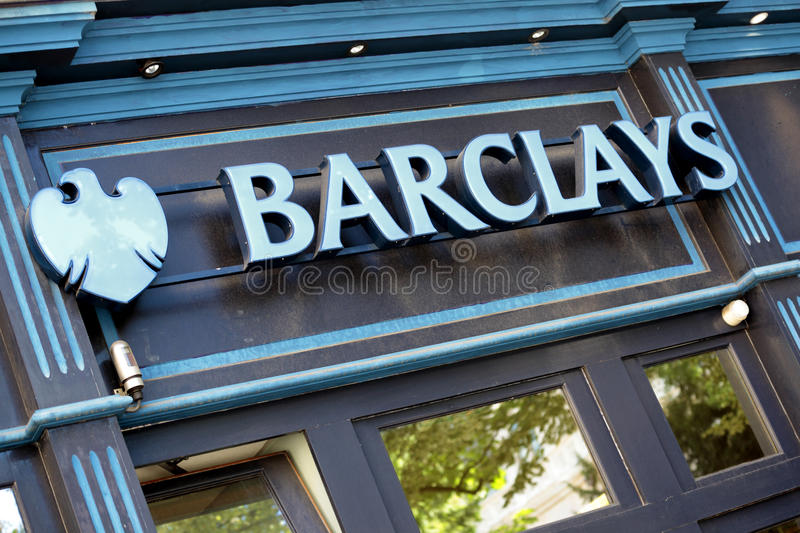 Barclays Bank sign and logo royalty free stock photos