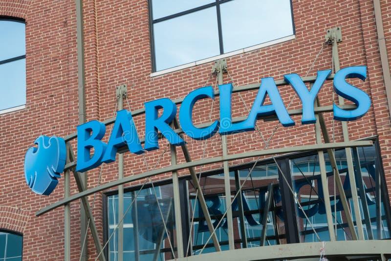 Barclays Bank-Teken royalty-vrije stock foto