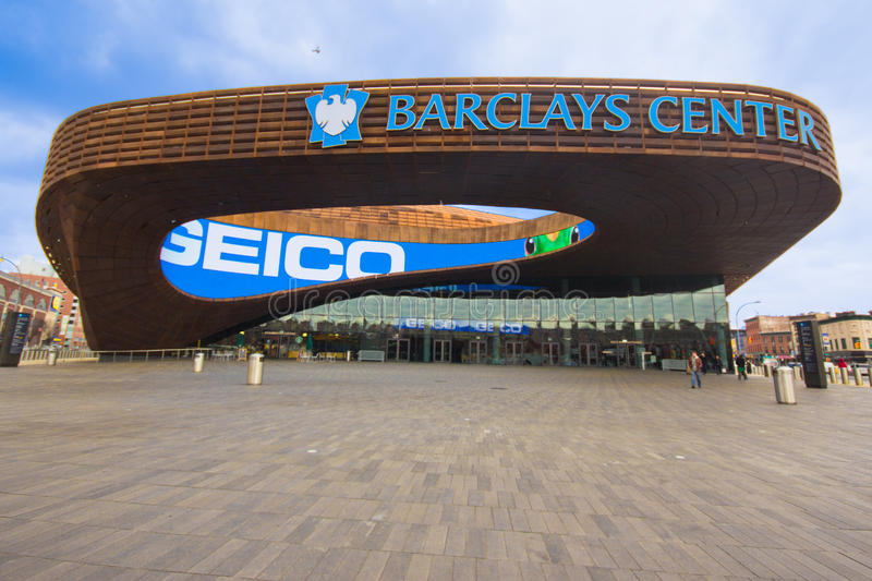 Barclays Brooklyn Center foto de stock royalty free