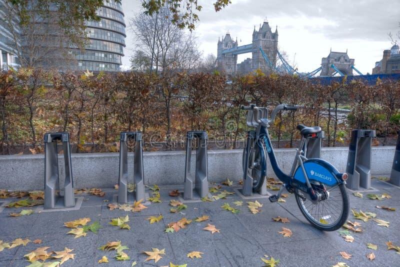 Barclays chen Miete in London einen Kreislauf durchma stockbild
