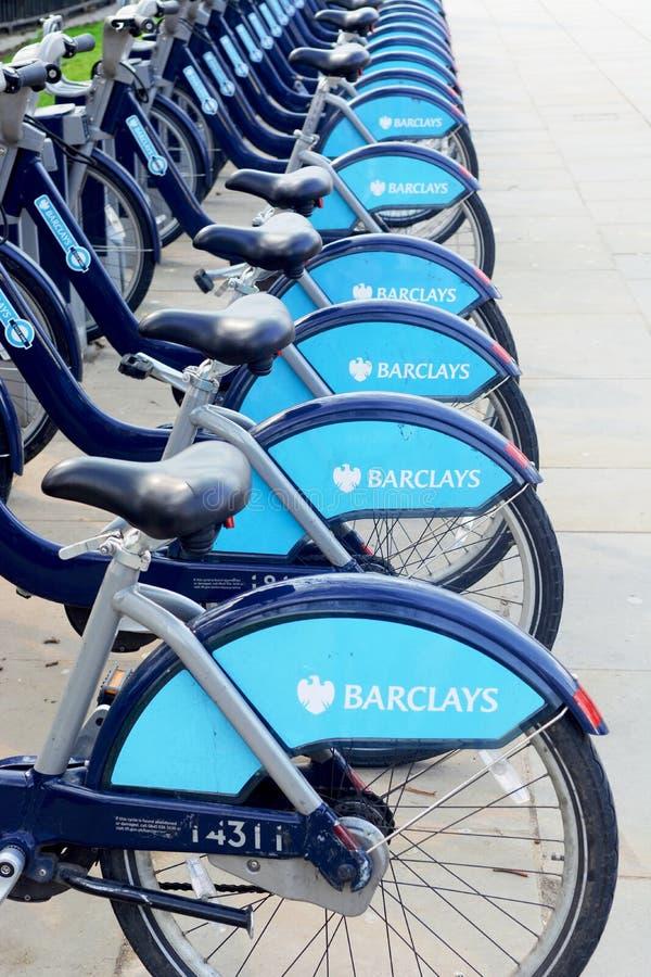 Barclays cicla il noleggio fotografie stock